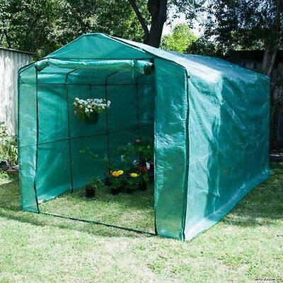NEW Strong Steel Frame Home Ready Greenhouse Walk-in Garden Shed Mesh PE Cover