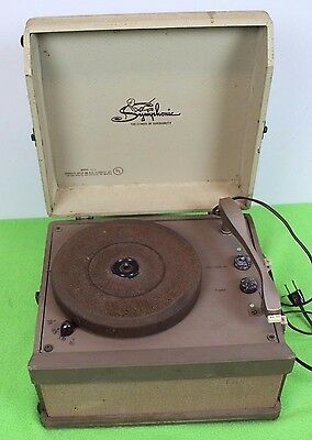 Vintage Symphonic Record Player 4 Speed 16-33-45-78 Tube Mono Amp