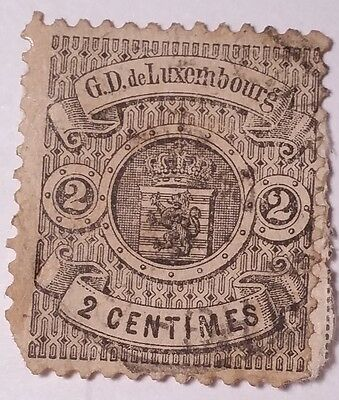Luxembourg Scott#30 Used Stamp Scu921Qt.....worldwide Stamps
