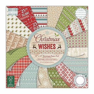 DOVECRAFT Paper 12x12 FULL PACK FIRST EDITION Christmas Wishes Scrapbooking