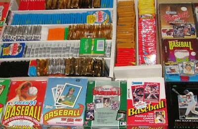 100 Unopened Vintage Baseball Cards in sealed Wax / Cello Packs
