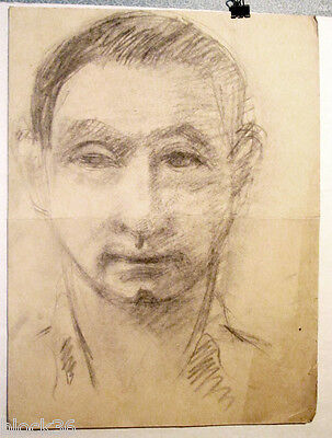 MAN'S PORTRAIT drawing with pencil by Russian artist A.Gromov
