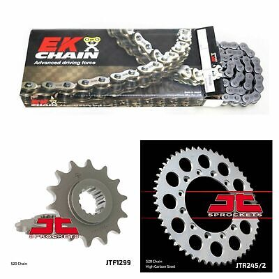 1999 - 2012 Honda VTR250 EK o ring chain and JT steel sprocket kit 14/41