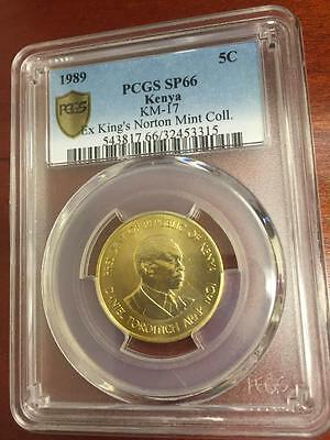 Kenya 1989 5 Cents Proof PCGS SP-66 - Extremely rare proof from King Norton