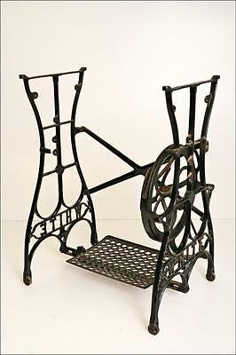 Antique CAST IRON Treadle Base table vintage old sewing machine industrial metal
