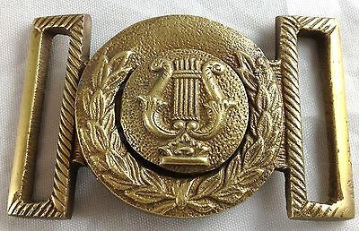 Civil War Style Harp Musicians Military Reproduction 2 Pc Brass Belt Buckle