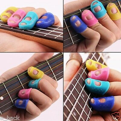 4PCS Guitar Fingertip Protectors Finger Guards For Ukulele Guitar Accessories A