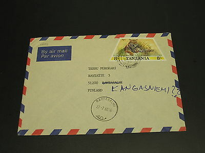 Tanzania 1988 airmail cover to finland *14983