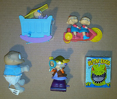 """3"""" Toy Figures~ THE RUGRATS ~Tommy~Angelica~Baby Dil~Phil Lil twins ~Reptar Eggs"""
