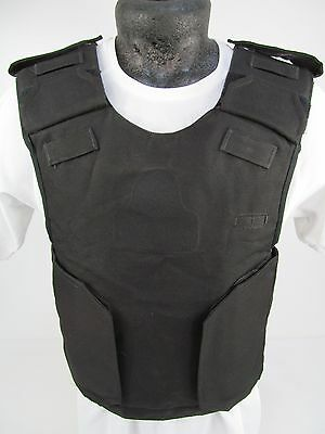 COVER ONLY!! X Police Aegis Black Overhead Tactical ARV Stab Vest Body Armor C01