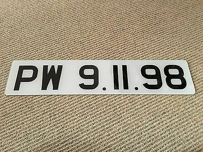 Paul Weller - Modern Classics - Ultra rare promo only release date number plate!