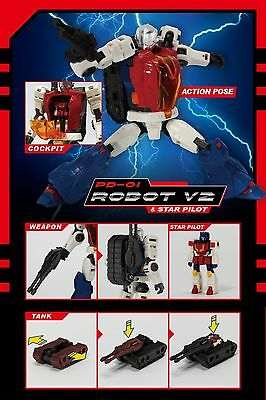 Perfect Effect Pd-01 Diaclone Reboot Robot V2 & Star Pilot Nuovo New