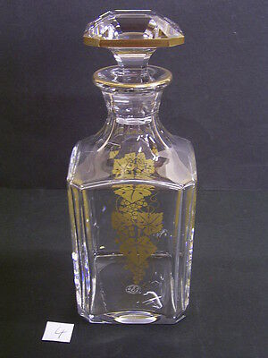 Baccarat Kristall Whiskey Decanter: Frankreich/france: Weinlaub-Gold-Dekor (4)