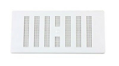 "6"" x 3"" White Plastic Adjustable  Air Vent Grille with Flyscreen Cover"