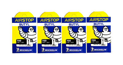 4 x Michelin Airstop A1 Inner Tubes 700c x 18-23 Presta - 40mm