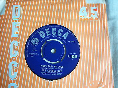 "THE MARIONETTES - WHIRLPOOL OF LOVE / NOBODY BUT YOU(7""single)DECCA ORG."