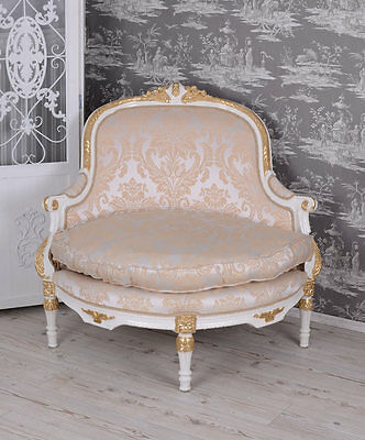 Baroque Style Chair Canapé White Vintage Sofa Antique Style Armchair