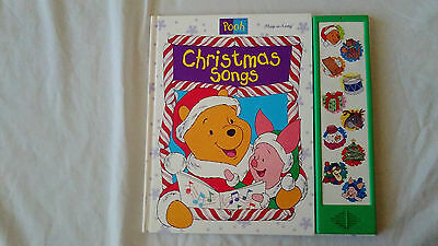 Disney Winnie the Pooh Working Electronic Play-a-Song Christmas Songs Book