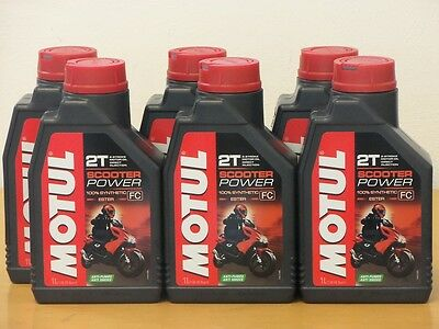 12,25€/l Motul Scooter Power 2T Rolleröl  6 x 1 L