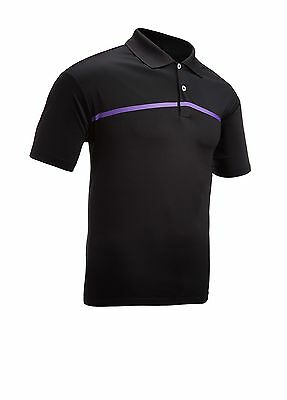 Adidas Climacool Golf Polo Shirt Black/Purple Large