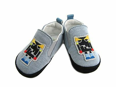 Auth FENDI First Shoes for Baby Robot Light Blue BMR012-4AA-F0QB5 (BF300106)