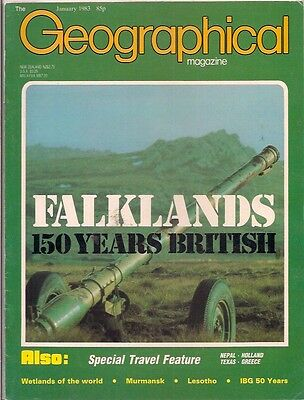 the geographical magazine-JAN 1983-FALKLANDS-150 YEARS BRITISH.
