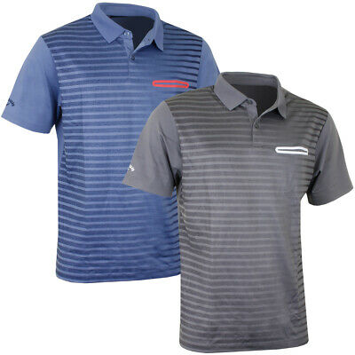 Callaway Golf Mens Ombre Pocket Opti-Dri Stretch Tech Polo Shirt 49% OFF RRP