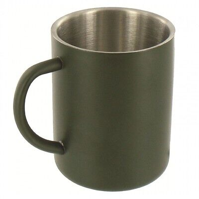 Highlander Tuff Mug Double walled stainless steel 300ml Camping Hiking Metal Cup
