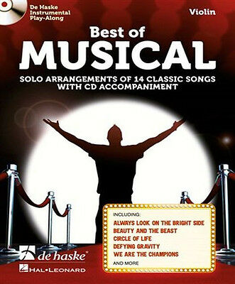 Best Of Musical Violin Book - Solo Arrangement Of Classic Songs + CD