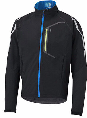 New Shimano Men Hybrid Jacket Convertible Vest Blue Removable Sleeves Packable