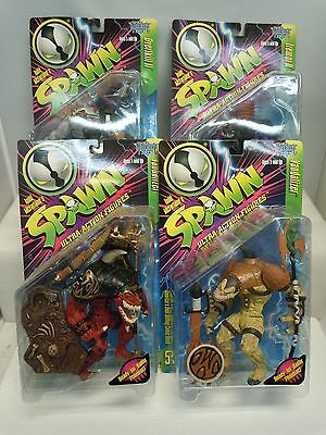 SPAWN ULTRA ACTION FIGURE LOT 1996-97 MIP Series 5-8 Variant McFarlane Toys