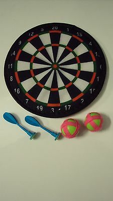 Indoor Safety Velcro Dart Board 20Cm With Darts Children Kids Game Toy Present