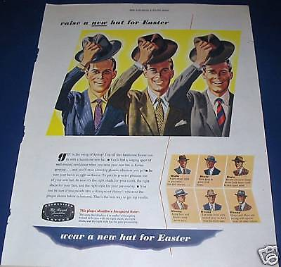 1946 raise a new HAT for Easter men's hat Ad