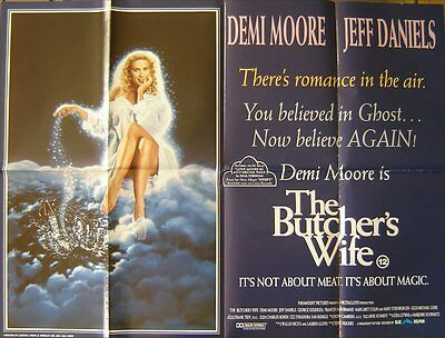 The Butcher's Wife (1991) Original S/S Folded UK Quad Cinema Poster,  Demi Moore