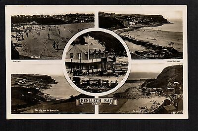 Benllech Bay - multi view - real photographic postcard