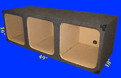 "3 Three Hole Square 15"" L3 L7 3/4 Mdf Grey Subwoofer Sub Enclosure Box"