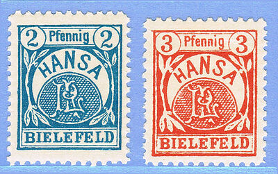 DEUTSCHE STADTPOST BIELEFELD 1/2 ** Hansa = GERMAN LOCAL STAMPS