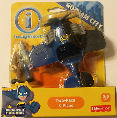 Imaginext DC Super Friends TWO-FACE & PLANE ~ Gotham City ~ Fisher-Price