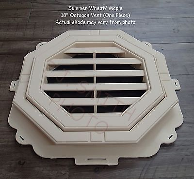 """New 18"""" Economy Octagon Summer Wheat / Maple  Gable Wall Vent"""