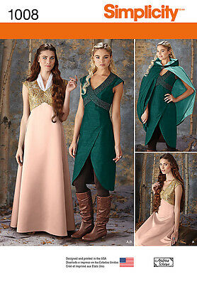 Simplicity SEWING PATTERN 1008 Misses Fantasy Costumes 6-12 Or 14-22