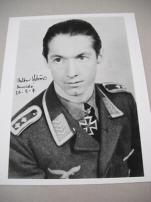8x10 SIGNED PHOTO OF WWII LUFTWAFFE ACE & KNIGHTS CROSS WINNER WALTER SCHUCK!