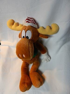 Very Large (2 Feet) Stuffed Bullwinkle with Rocky Figure Toy So Cute