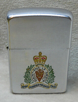 Vintage Zippo RCMP Royal Canadian Mounted Police Cigarette Lighter.
