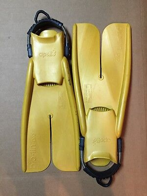 Apollo Bio-Fin Pro Open Scuba Free Diving Snorkeling Split Fins Nature's Wing M
