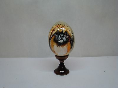 Russian eggs. High quality. Hand-painted Pekingese
