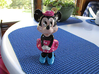 "Disney Minnie Mouse Ceremic Figurine 6"" Tall"