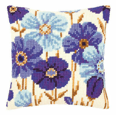Blue Anemones Vervaco Tapestry/needlepoint Kit (Pn145051),pretty Cushion