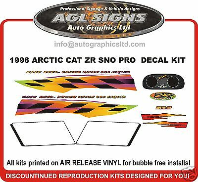1998 Arctic Cat Zr 440 Sno Pro Decal Kit , Reproductions Graphics
