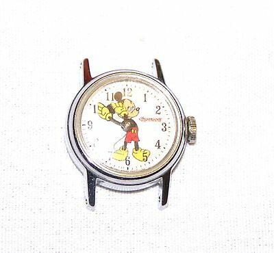 VTG MICKEY MOUSE WRIST WATCH Youth size Watch Ingersoll Walt Disney Productions
