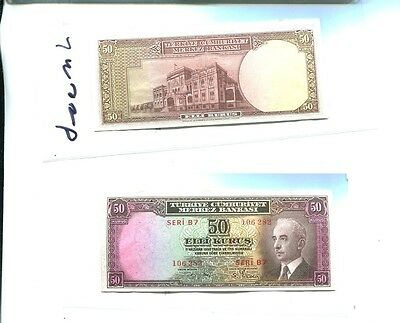 Turkey 1942 50 Kurus  Currency Note Cu 2369J